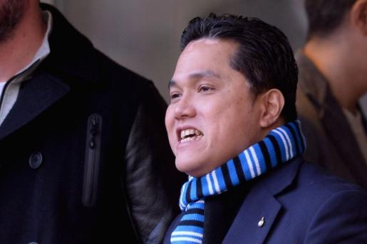 thohir, presidente dell'Inter, in tribuna