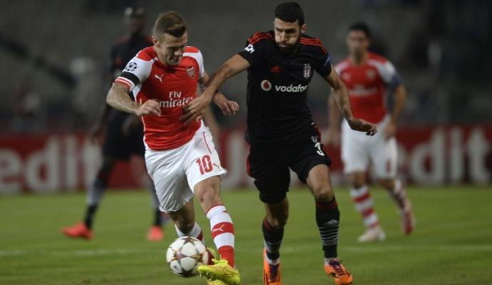 Wilshere e Koybasi in Besiktas-Arsenal, playoff Champions 2014-15