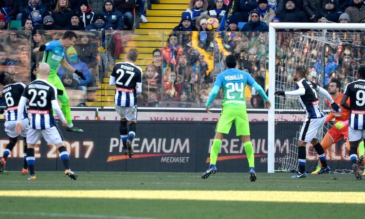 Video Gol Highlights Udinese-Inter 1-2: doppio Perisic ribalta Jankto