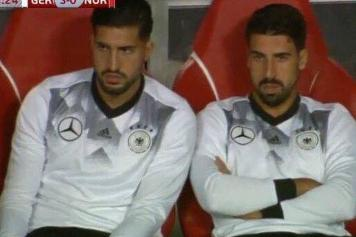 emre can, khedira, germania, gemelli, 2017/18