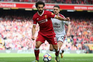 salah, liverpool, controllo, brady, burnley, 2017/18