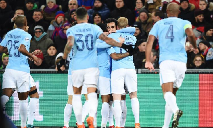 Champions League: poker del City a Basilea, qualificazione ipotecata
