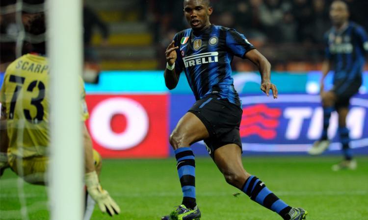 Inter, la doppietta di Eto'o contro il Bologna VIDEO