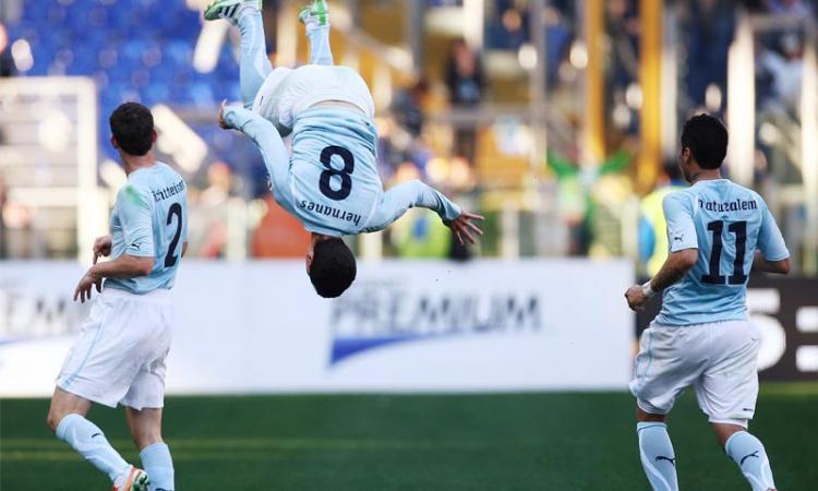 Lazio: Hernanes gol triste, Lulic gol rabbioso