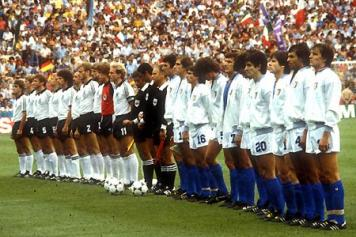 Italia-Germania 3-1 del 1982, le squadre schierate