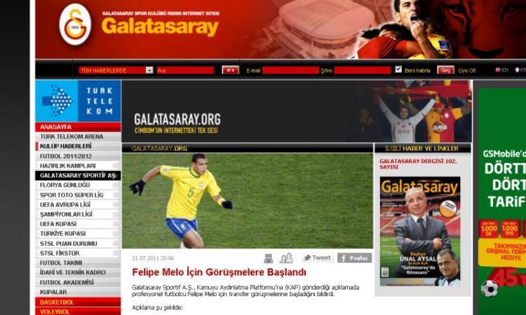 UFFICIALE: FELIPE MELO AL GALATASARAY