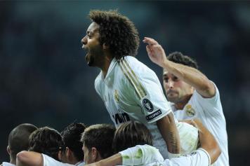 Marcelo esulta dopo un gol