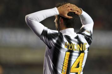 Mirko Vucinic attaccante montenegrino della Juventus