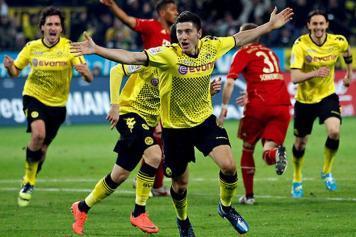L\'esultanza di Lewandowski contro il Bayern - NyTimes.com