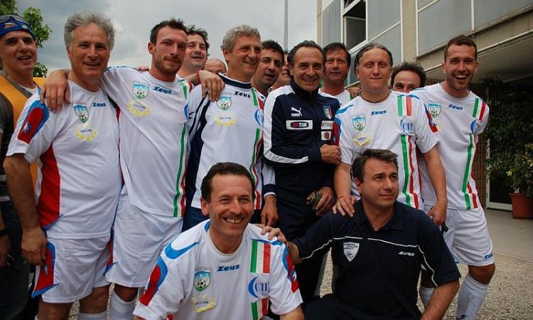 Reggio Emilia: Nazionale Sindaci per i terremotati con Graziani, Lucchetta e Chechi