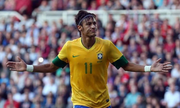 Neymar libera David Villa e Robinho