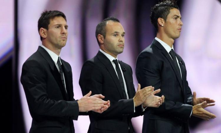 Pallone d'Oro: sarà sfida Ronaldo, Messi e Inesta. Pirlo fuori dalla finale VIDEO