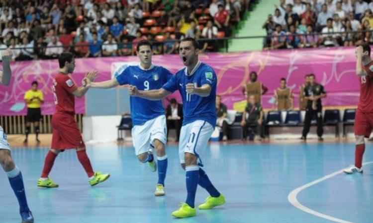 Mondiali Calcio a 5: Italia, che impresa! Da 0-3 a 4-3 sul Portogallo, è semifinale