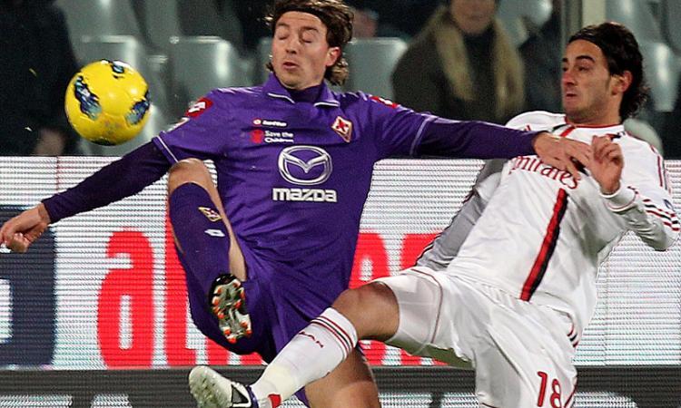 Milan-Fiorentina: Aquilani sfida Montolivo