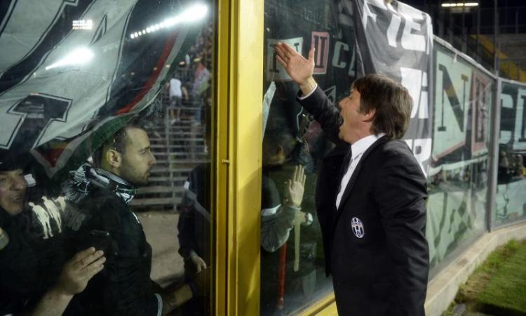 Atalanta-Juve 0-1: Matri gol. Lancio di oggetti, gara sospesa per 9': Conte, Marino e Denis placano i violenti