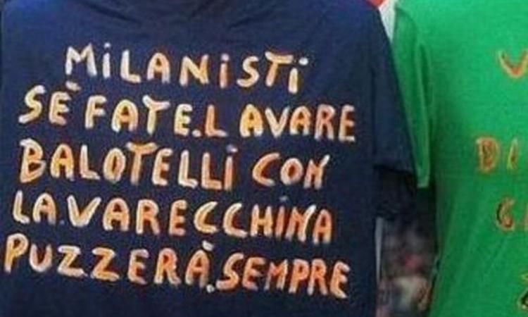 Milan: in vendita a Napoli ignobili (e analfabete) maglie razziste anti-Balotelli