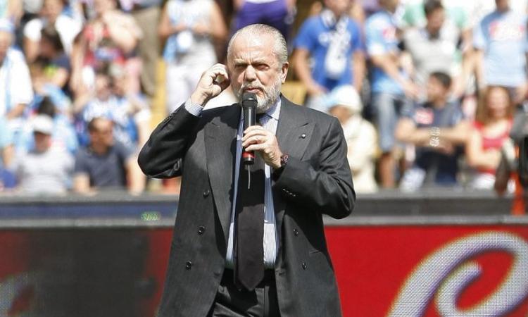 Napoli, De Laurentiis: 'Bellissime sfide in Champions! Avanti tutti  insieme'