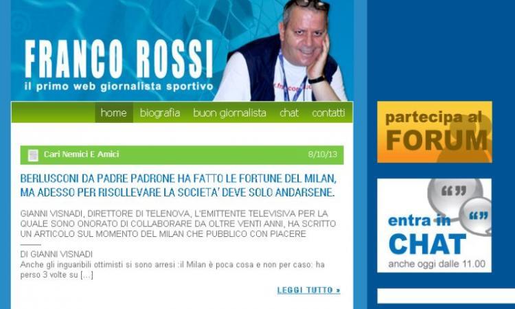 E' morto Franco Rossi, grande giornalista e grande Re del Mercato. Jacobelli: segugio, istrione, maestro