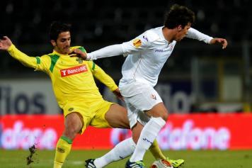 Bakic con la maglia della Fiorentina