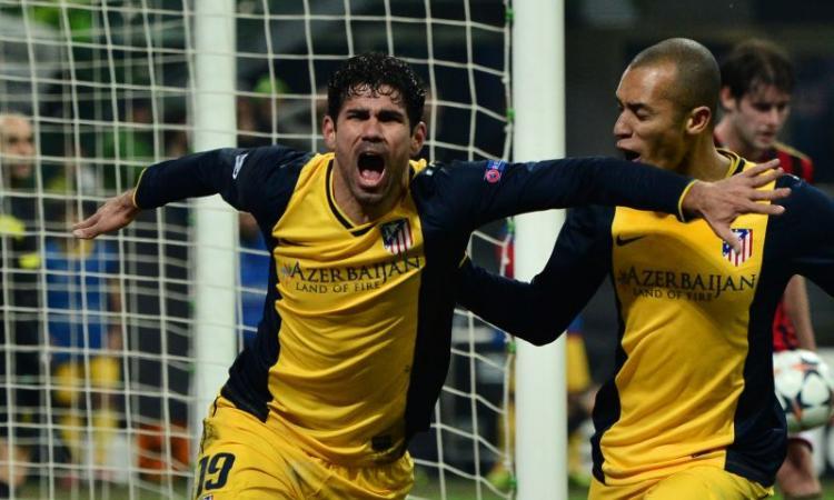 Diego Costa castiga i rossoneri. Milan sfortunato, contro l'Atletico finisce 0-1