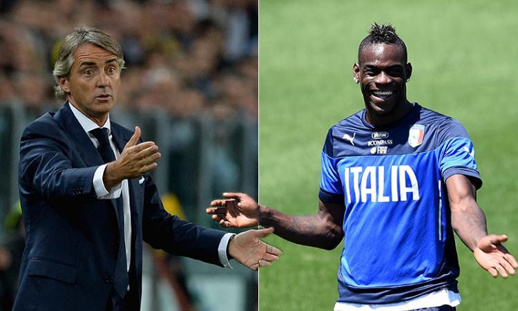 Mancini: 'Balotelli è una prima punta. Ancora insieme? Non si sa mai...'