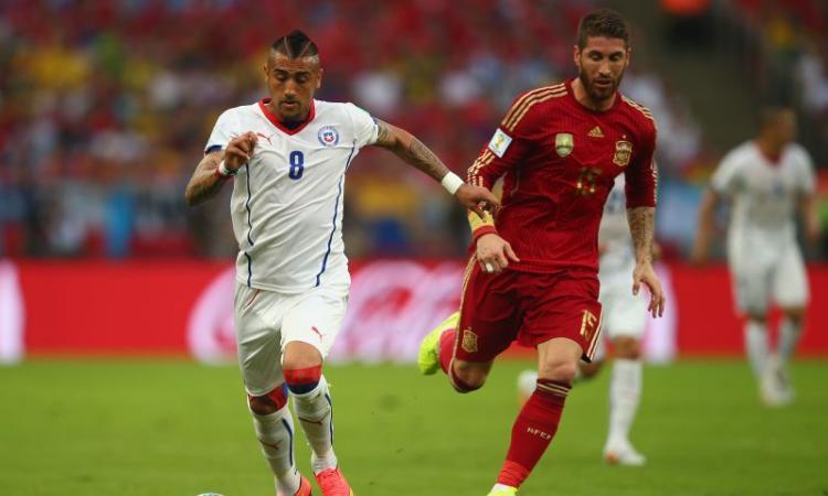 Brasile 2014, Vidal carico: 'Grazie a tutti, forza Cile e Juve!'