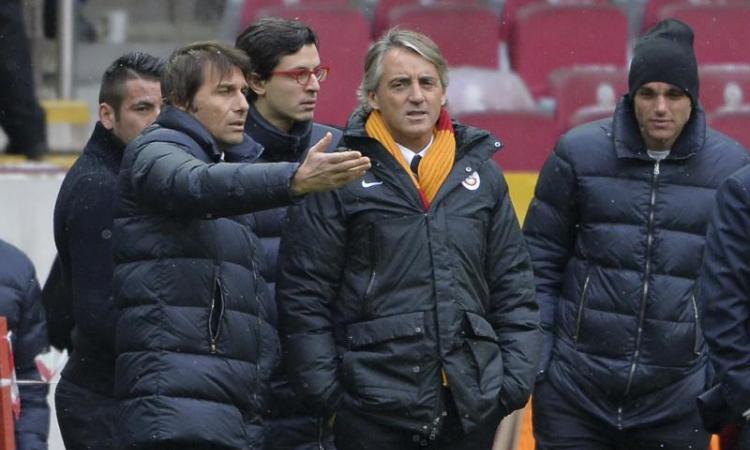 Conte evasivo sugli scudetti della Juve, ma la Figc 'toglie' un titolo a Mancini