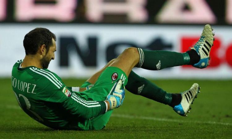 Milan, Diego Lopez a rischio per il derby