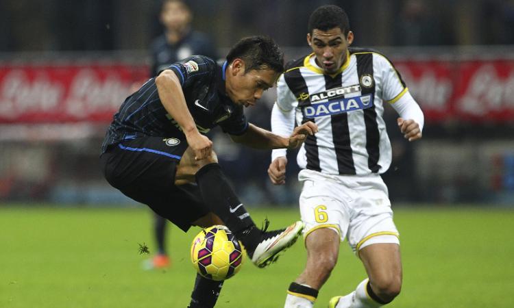 Inter-Sampdoria: incrocio tra Nagatomo e Zukanovic
