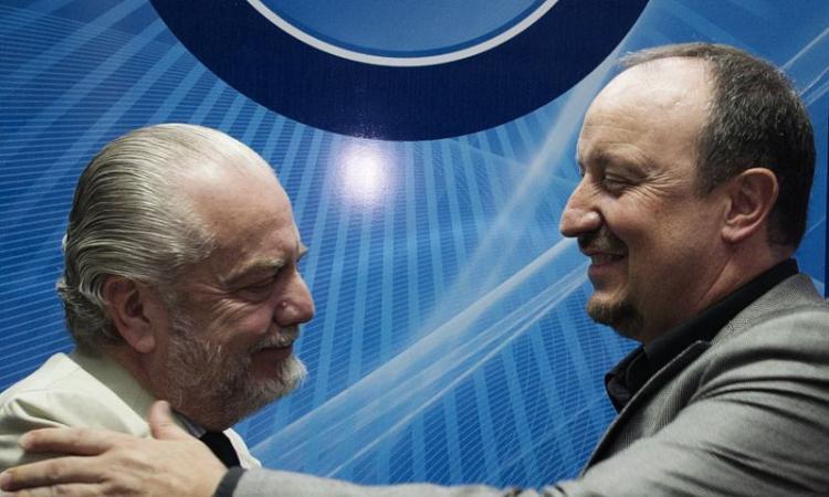 Napoli, faccia a faccia tra Benitez e De Laurentiis