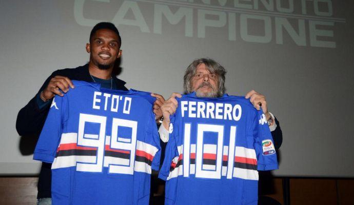 Eto'o fa causa alla Sampdoria per Olinga
