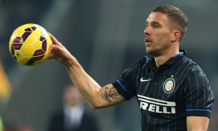 L'ex Inter Podolski: 'Un giorno vorrei giocare in Brasile'