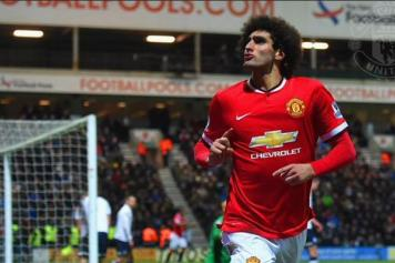 Fellaini Man United esulta