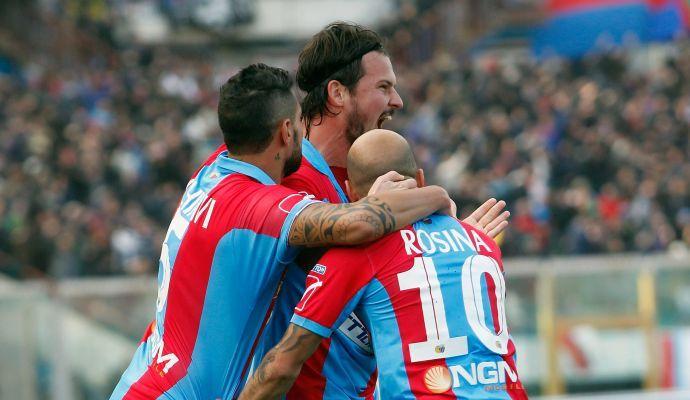 Serie B: vola il Catania, rimpianti per Frosinone e Avellino