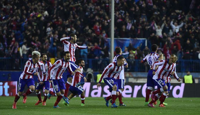 Champions League: Atletico Madrid avanti ai rigori