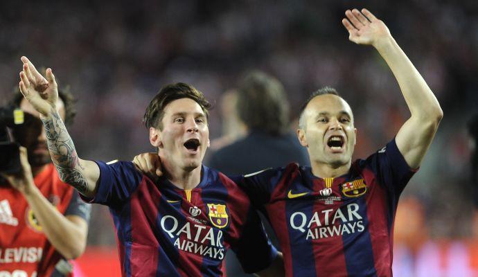 Barcellona, Bartomeu: 'Il papà di Messi ha firmato, ora Iniesta'