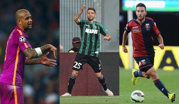Romano: Inter, idea Felipe Melo. Juve, incontro per Berardi. Rebus Bertolacci