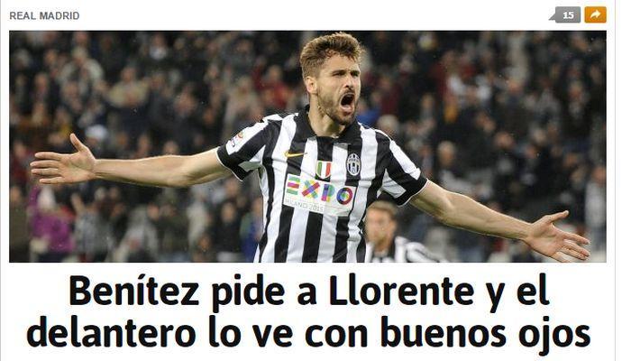 Benitez vuole Llorente al Real Madrid