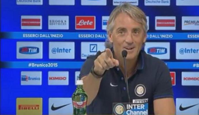 Inter, domani alle 15 Mancini in conferenza