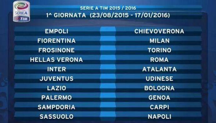 c420cafcd4 Serie A: ecco il calendario completo | Primapagina | Calciomercato.com