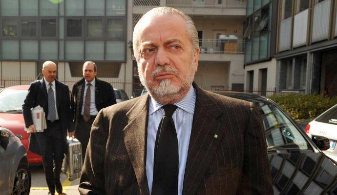 Roma-Napoli, De Laurentiis annuncia: 'Forse si giocherà alle 18'