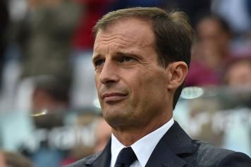 Allegri Juventus concentrato