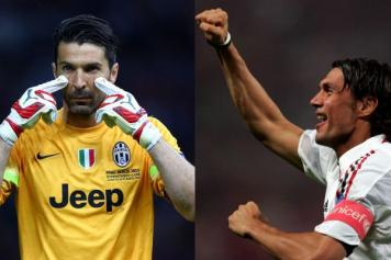 Buffon Maldini Champions
