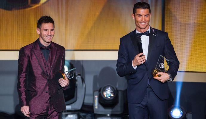 Sporting Lisbona, accoglienza a Messi... con Ronaldo!