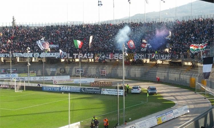 Ascoli-Padova 2-3: il tabellino