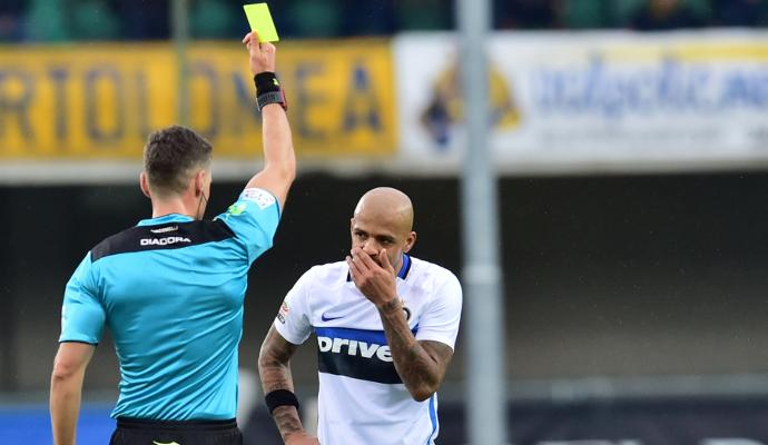 Giudice Sportivo, Inter: un turno a Felipe Melo