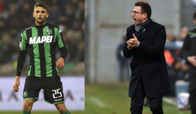 Di Francesco-Milan, Berardi fra Juve e tifo per l'Inter: parla l'ad del Sassuolo