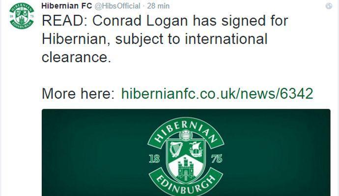 Hibernian, UFFICIALE: preso Logan