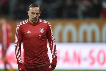 Ribery Bayern riscaldamento