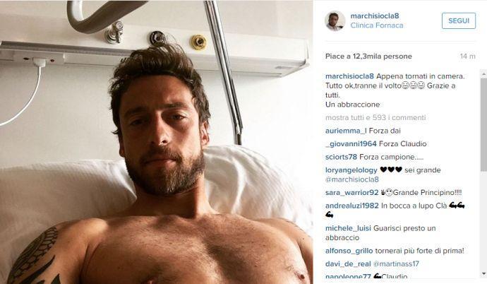 Marchisio, ripresa la riabilitazione a Vinovo
